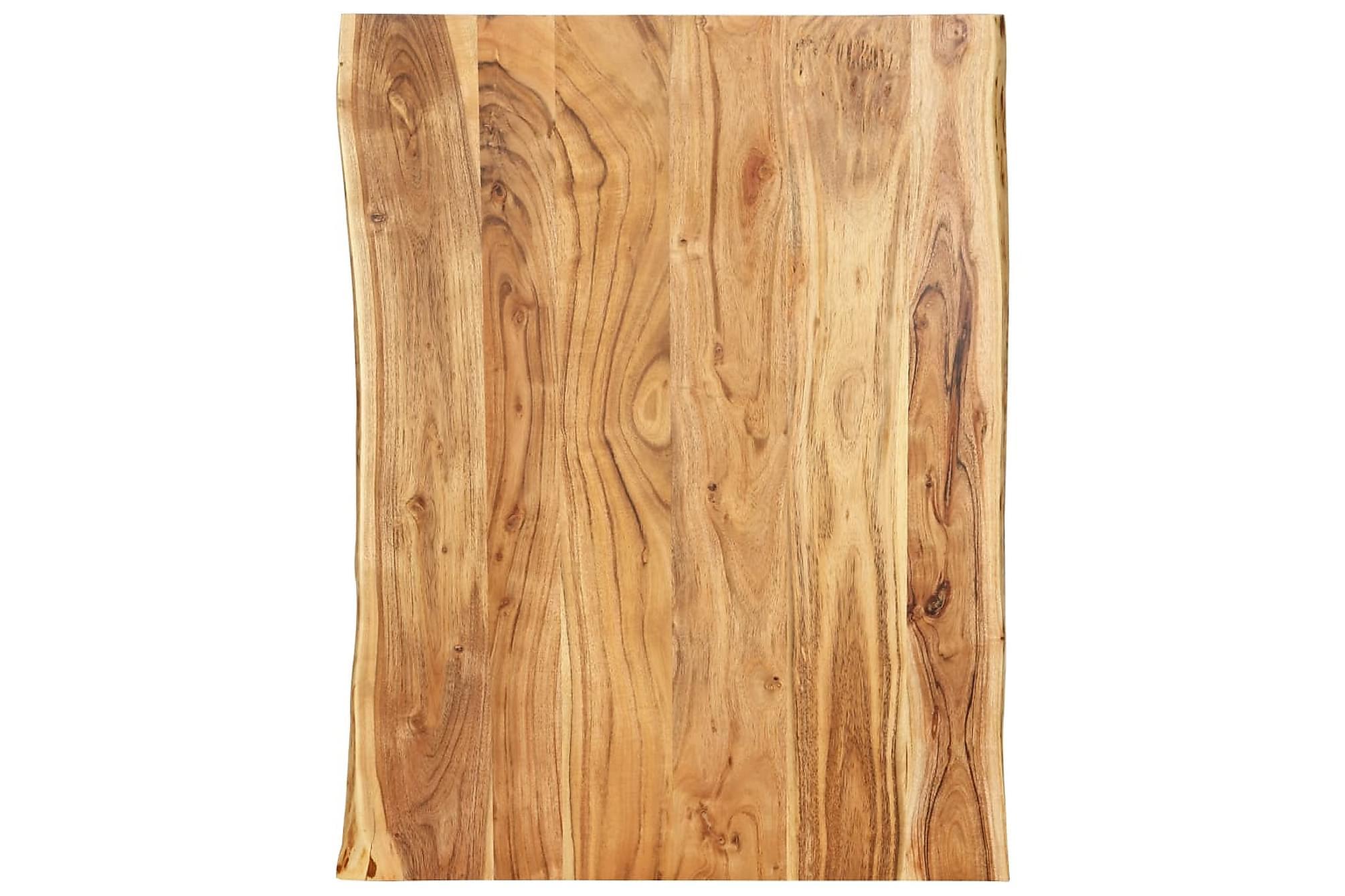 Bordsskiva massivt akaciaträ 80x60x2,5 cm, Bordsben & tillbehör