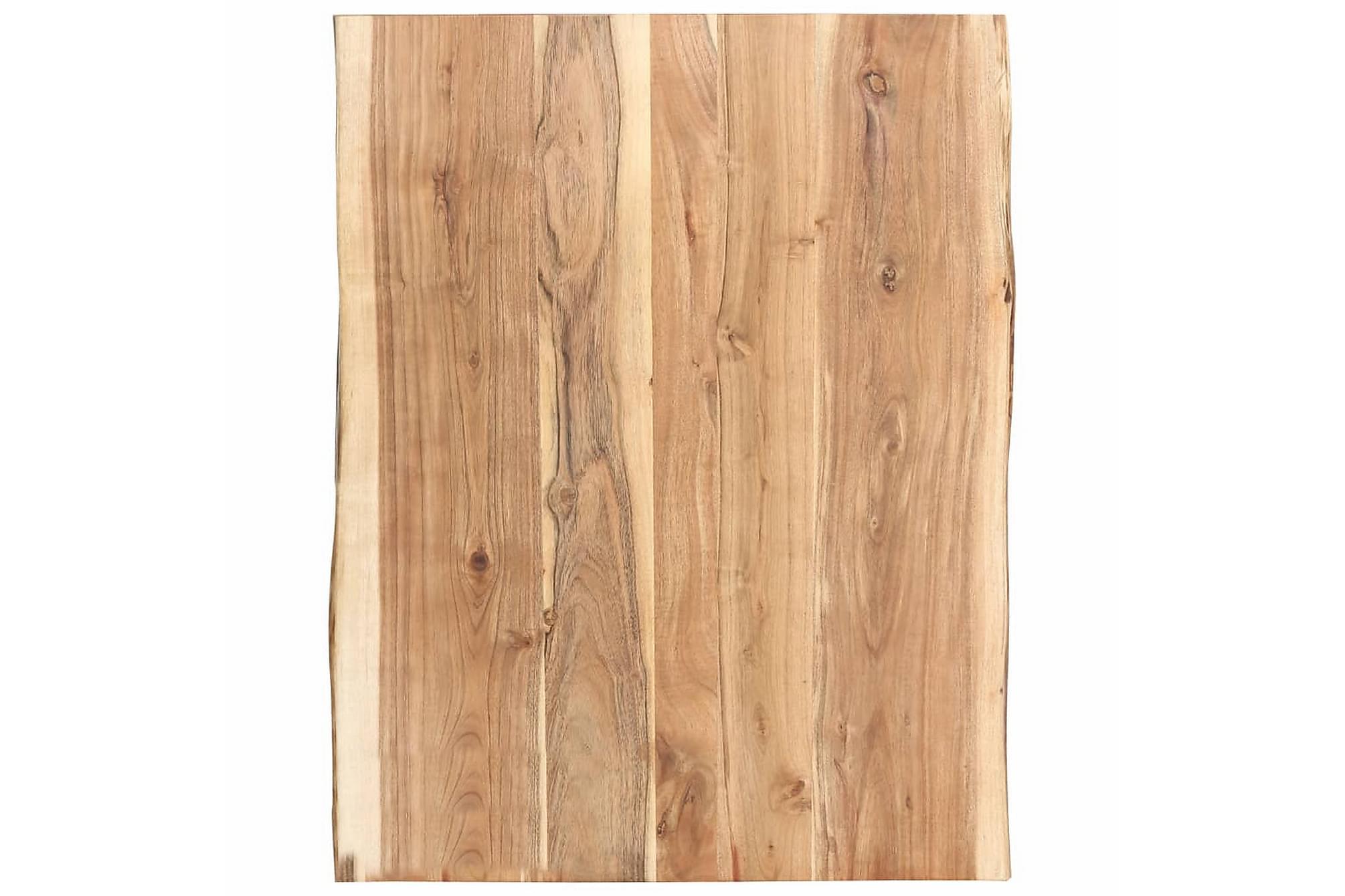 Bordsskiva massivt akaciaträ 80x60x3,8 cm, Bordsben & tillbehör