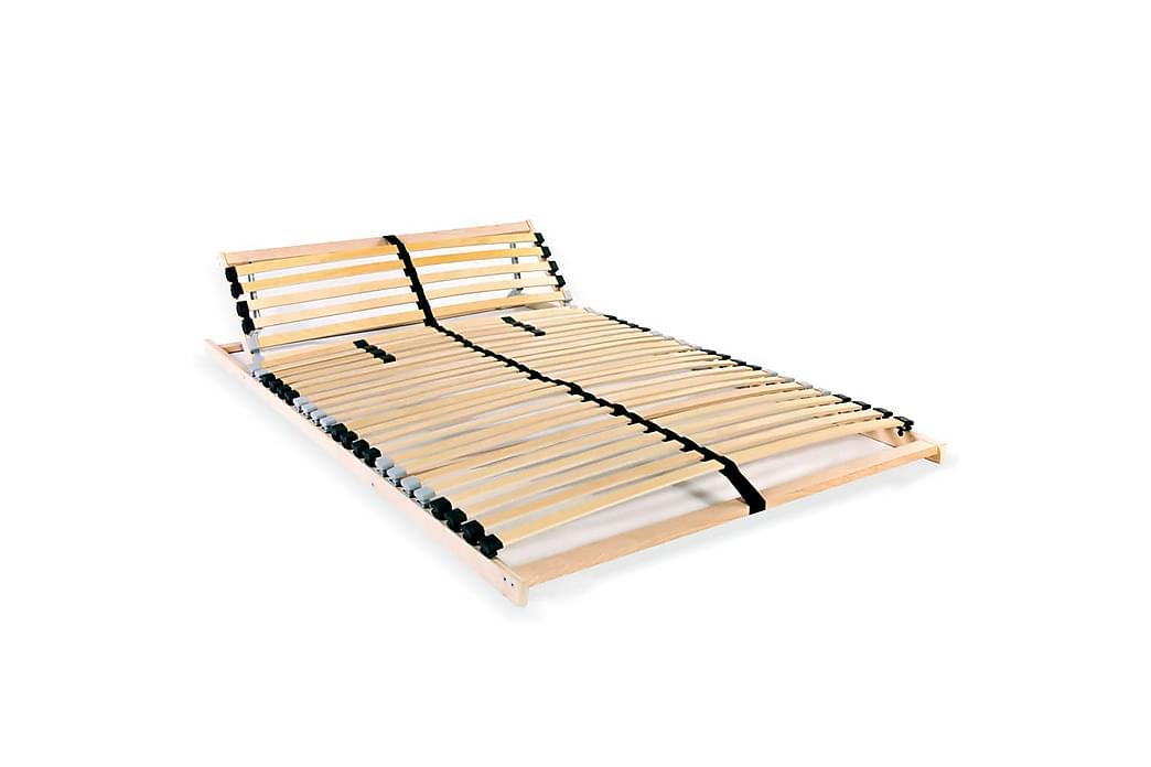 Ribbotten med 28 ribbor 7 zoner 100x200 cm - Brun - Möbler & Inredning - Sängar - Ribbottnar