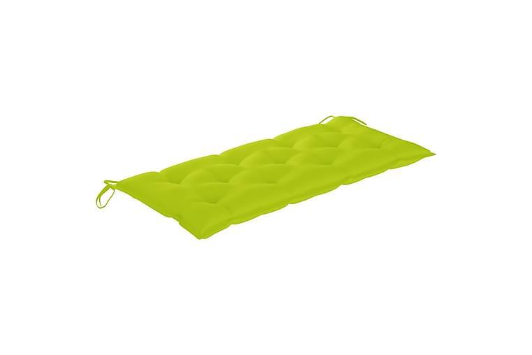 Bänkdyna för trädgården ljusgrön 120x50x7 cm tyg - Grön - Utemöbler - Dynor - Stolsdynor
