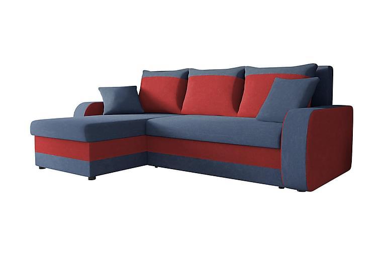 GUDDARP 3-sits Hörnbäddsoffa Universal - Röd|Blå - Möbler & Inredning - Soffor - Bäddsoffor