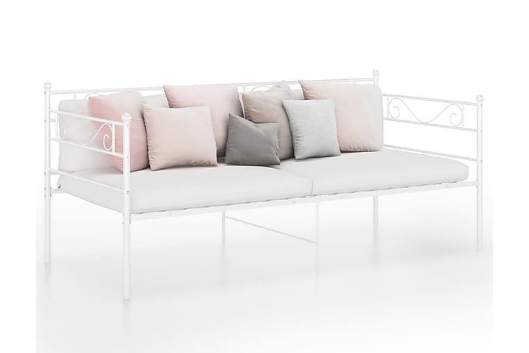 Sängram bäddsoffa vit metall 90x200 cm - Vit - Möbler & Inredning - Soffor - Bäddsoffor