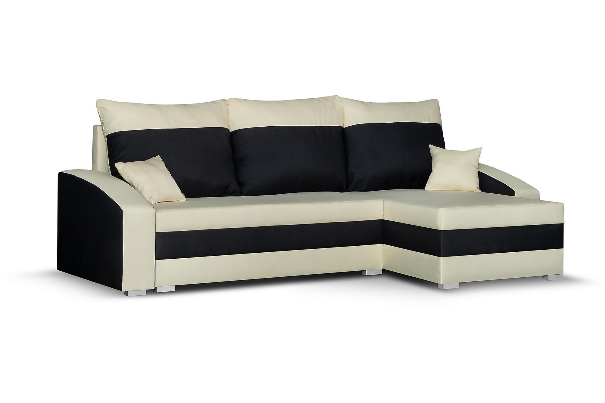 Banyoles divanbäddsoffa beige/svart