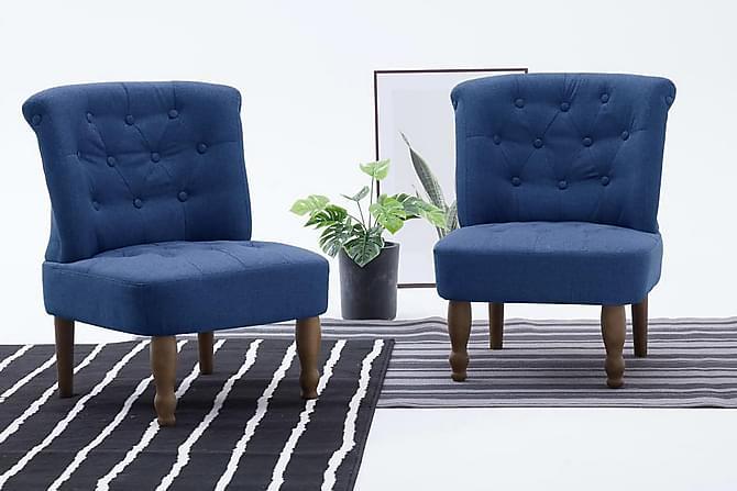 Emmafåtöljer 2 st blå tyg - Blå - Möbler & Inredning - Fåtöljer & fotpallar - Fåtöljer