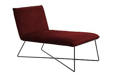 CHUCHO Loungefåtölj Sammet Röd