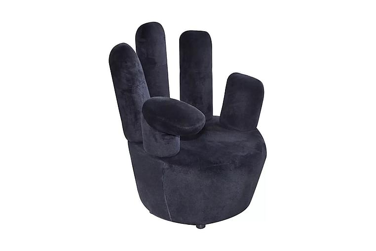 Fåtölj handformad svart sammet - Svart - Möbler & Inredning - Fåtöljer & fotpallar - Sammetsfåtölj