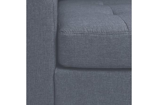 Fåtölj med kudde ljusgrå stål och tyg - Grå - Möbler & Inredning - Fåtöljer & fotpallar - Fåtöljer