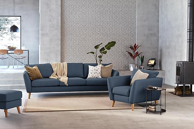 OSCAR Fåtölj Blå - Möbler & Inredning - Fåtöljer & fotpallar - Fåtöljer