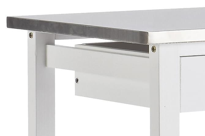COOKIES Serveringsvagn 60 Vit/Stål - Möbler & Inredning - Bord - Rullbord