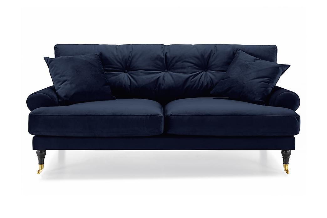ANTHONY Sammetssoffa 2-sits Midnattsblå/Mässing - Möbler & Inredning - Soffor - Howardsoffor