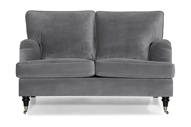 HOWARD Sammetssoffa 2-sits Silvergrå - Möbler & Inredning - Soffor - Howardsoffor