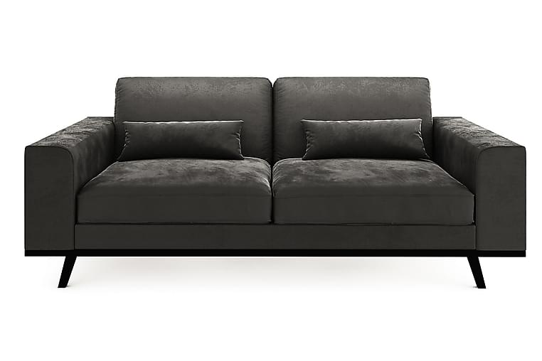TULSA 2-sits Soffa Sammet Ljusgrå - Skräddarsy färg och tyg - Möbler & Inredning - Soffor - 2-sits soffor