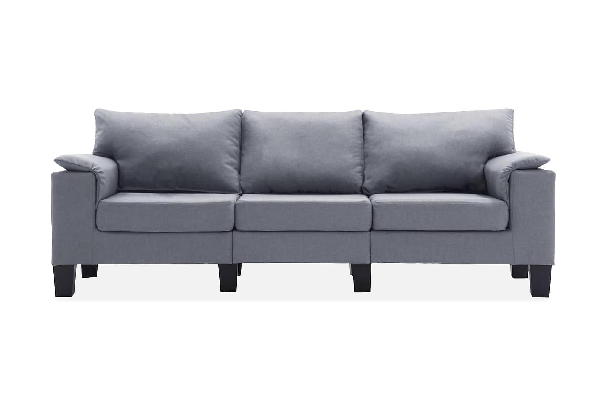3-sitssoffa tyg ljusgrå, Modulsoffor