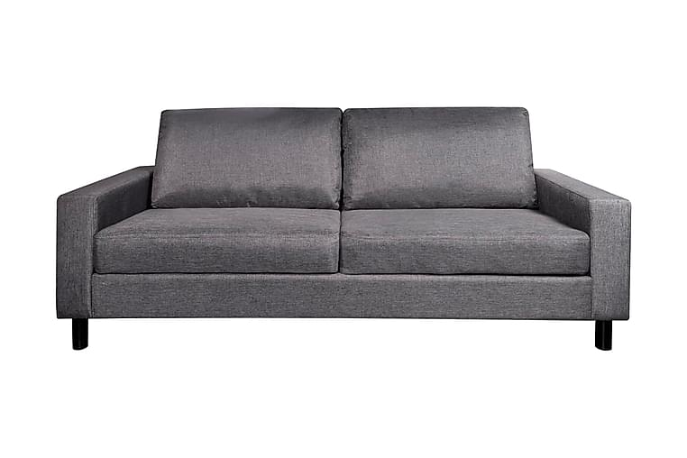 3-sitssoffa tyg mörkgrå - Grå - Möbler & Inredning - Soffor - 3-sits soffor