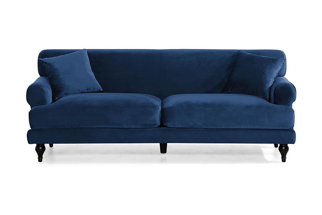 ANDREAS Sammetssoffa 3-sits Midnattsblå - Möbler & Inredning - Soffor - Sammetssoffor
