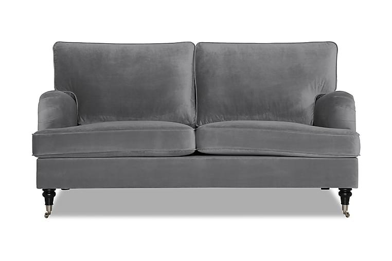 HOWARD Sammetssoffa 3-sits Silvergrå - Möbler & Inredning - Soffor - Howardsoffor