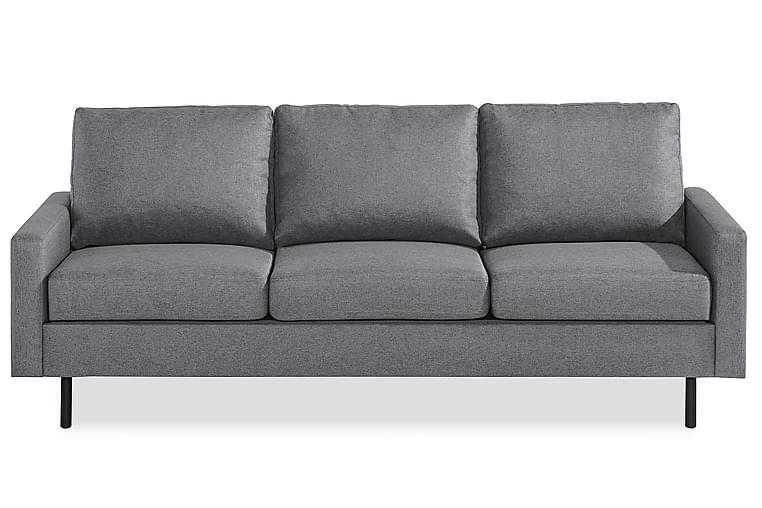 RACKO 3-sits Soffa Grovvävt tyg Blå - Skräddarsy färg och tyg - Möbler & Inredning - Soffor - 3-sits soffor