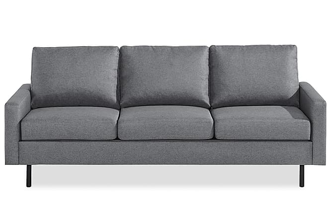 RACKO 3-sits Soffa Linnelook Svart - Skräddarsy färg och tyg - Möbler & Inredning - Soffor - 3-sits soffor