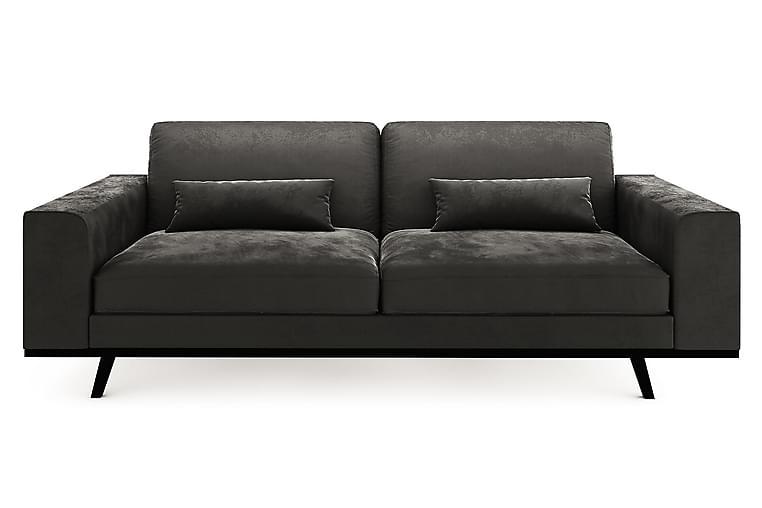 TULSA 3-sits Soffa Konstläder Ljusgrå - Skräddarsy färg och tyg - Möbler & Inredning - Soffor - 3-sits soffor