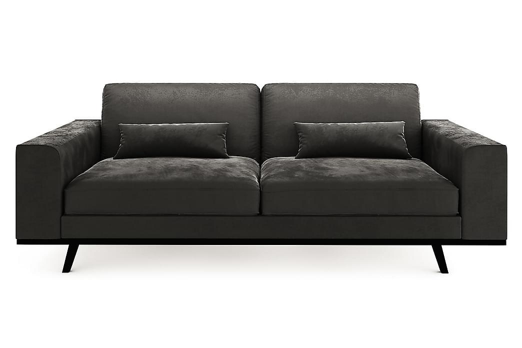 TULSA 3-sits Soffa Sammet Mörkgrå - Skräddarsy färg och tyg - Möbler & Inredning - Soffor - 3-sits soffor