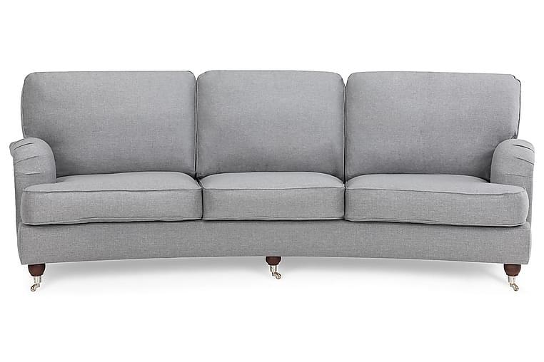 LYNN 4-sits Soffa Svängd Linnelook Beige - Skräddarsy färg och tyg - Möbler & Inredning - Soffor - Howardsoffor