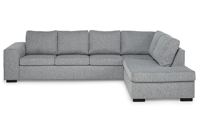 CONNECT 4-sits Soffa med Schäslong Höger Sammet Blå - Skräddarsy färg och tyg - Möbler & Inredning - Soffor - Schäslong