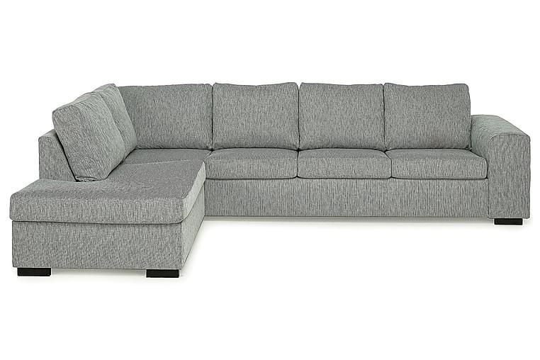 CONNECT 4-sits Soffa med Schäslong Vänster Linnelook Svart - Skräddarsy färg och tyg - Möbler & Inredning - Soffor - Schäslong