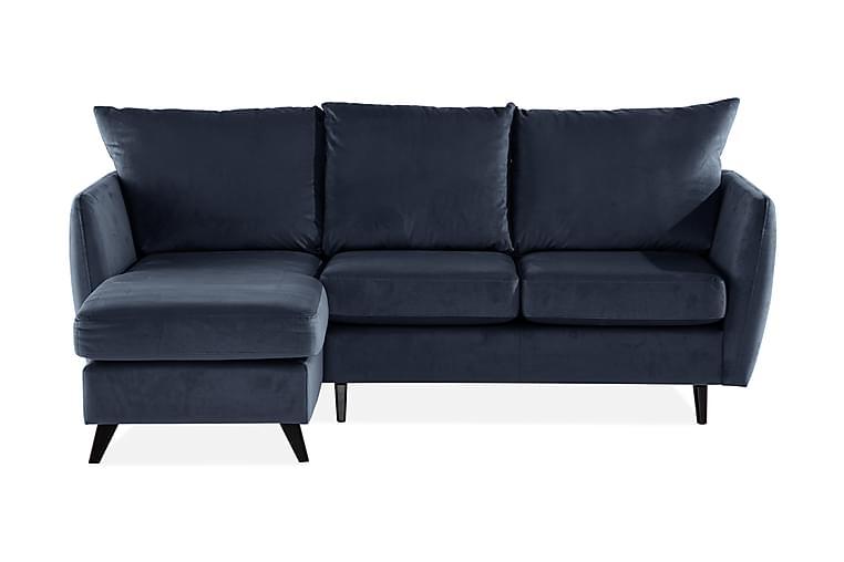 KOTTOBE 2-sits Soffa med Schäslong Vänster Blå/Grå - Möbler & Inredning - Soffor - Schäslong
