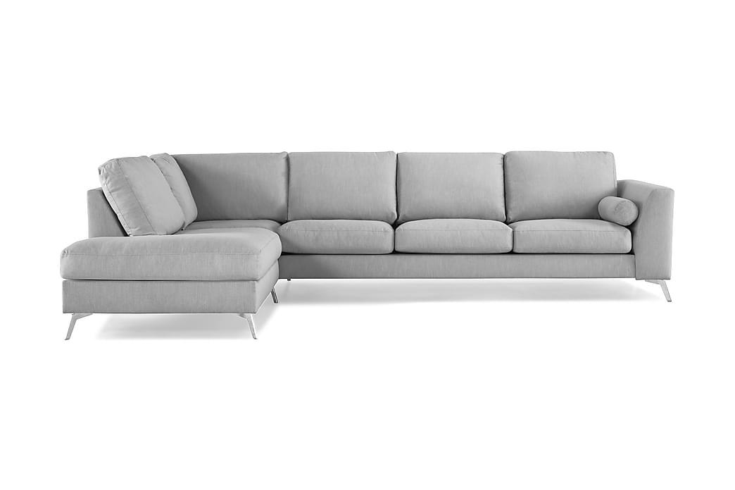 NASHVILLE LYX 4-sits Soffa med Schäslong Vänster Grå - Möbler & Inredning - Soffor - Schäslong