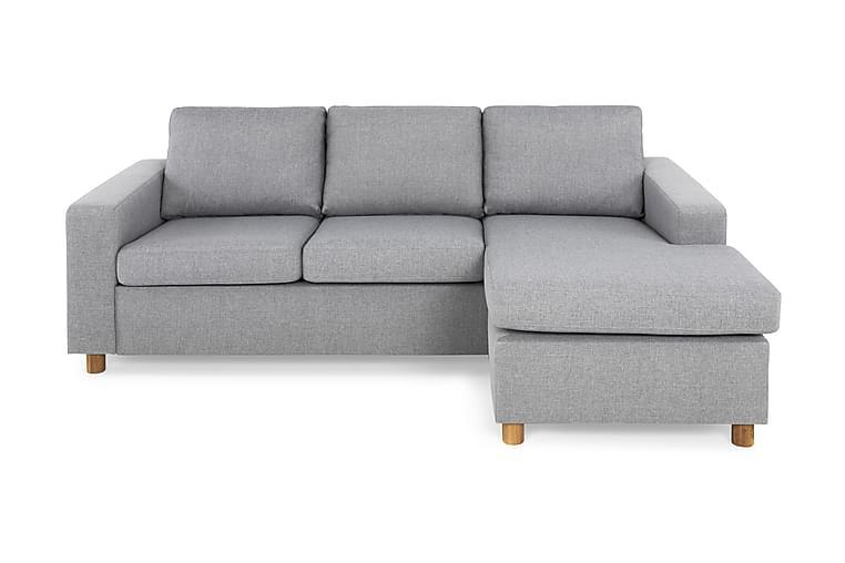NEW YORK Divansoffa 3-sits Vändbar Ljusgrå - Möbler & Inredning - Soffor - Divansoffor