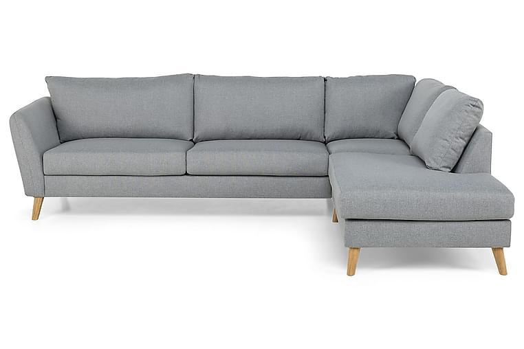 OSCAR Divansoffa 3-sits Höger Finvävt Tyg Ljusgrå - Skräddarsy färg och tyg - Möbler & Inredning - Soffor - Divansoffor