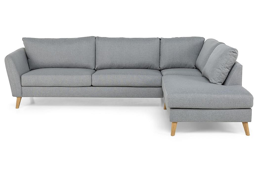 OSCAR Divansoffa 3-sits Höger Grovvävt tyg Brun - Skräddarsy färg och tyg - Möbler & Inredning - Soffor - Divansoffor