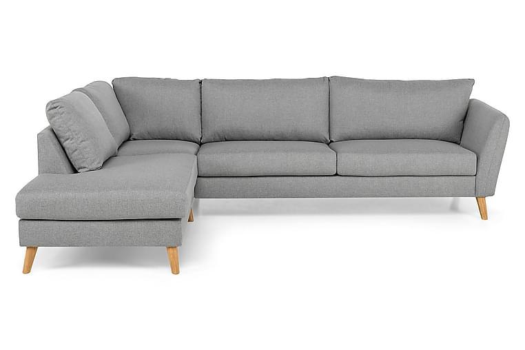 OSCAR Divansoffa 3-sits Vänster Grovvävt tyg Grön - Skräddarsy färg och tyg - Möbler & Inredning - Soffor - Divansoffor