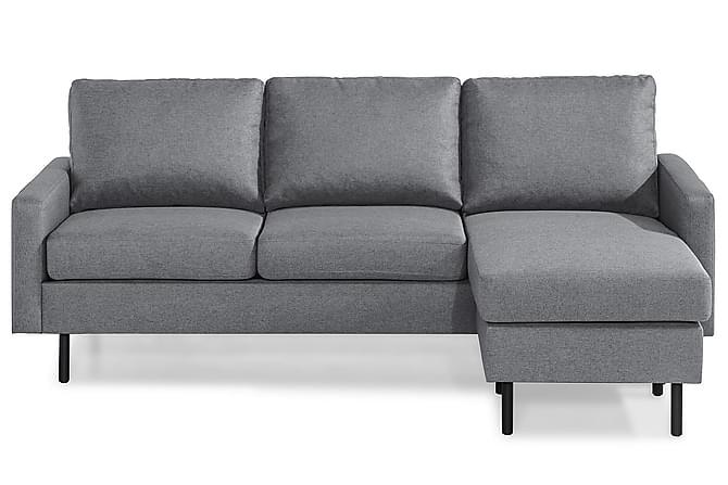RACKO 3-sits Soffa med Divan Vändbar Grovvävt tyg Svart - Skräddarsy färg och tyg - Möbler & Inredning - Soffor - 3-sits soffor