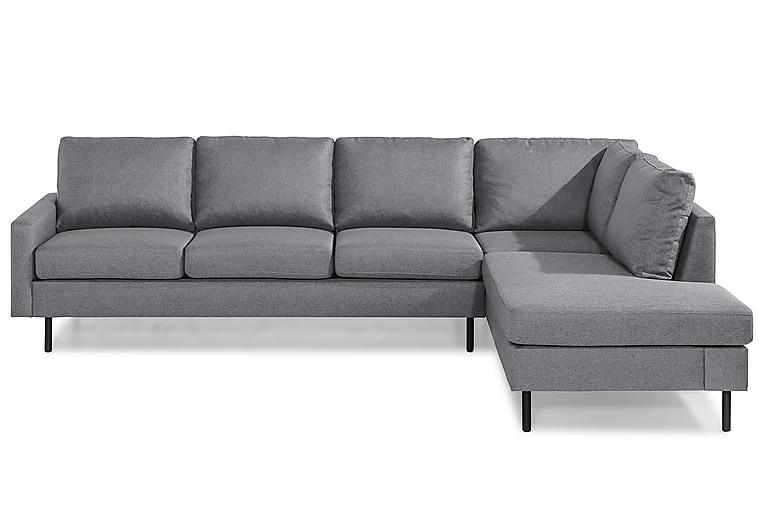 RACKO 3-sits Soffa med Schäslong Höger Grovvävt tyg Blå - Skräddarsy färg och tyg - Möbler - Vardagsrum - Soffor - Divansoffor & schäslong