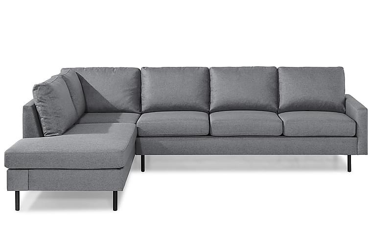 RACKO 3-sits Soffa med Schäslong Vänster Finvävt Tyg Mörkgrå - Skräddarsy färg och tyg - Möbler & Inredning - Soffor - Schäslong