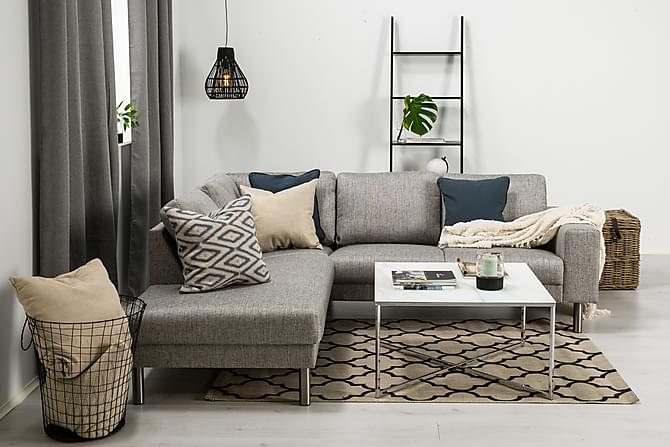 RIMELLA 4-sits Soffa med Schäslong Vänster Ljusgrå - Möbler & Inredning - Soffor - Divansoffor