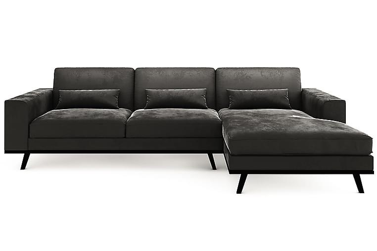 TULSA Divansoffa Höger Grovvävt tyg Ljusgrå - Skräddarsy färg och tyg - Möbler & Inredning - Soffor - Divansoffor