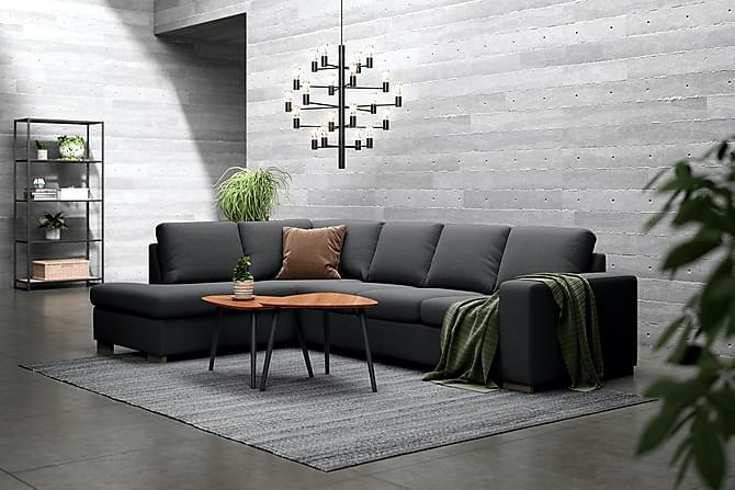 WINDHAM 4-sits Soffa med Schäslong Vänster Antracit - Möbler & Inredning - Soffor - Divansoffor