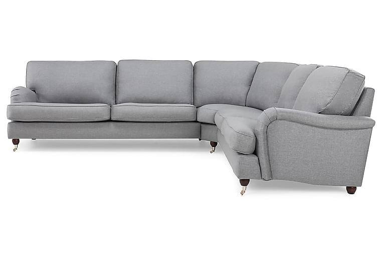 LYNN Hörnsoffa Vänster Finvävt Tyg Ljusgrå - Skräddarsy färg och tyg - Möbler & Inredning - Soffor - Howardsoffor
