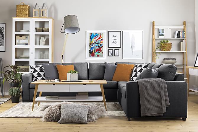 NEW YORK Hörnsoffa XL Vändbar Mörkgrå - Möbler & Inredning - Soffor - Hörnsoffor