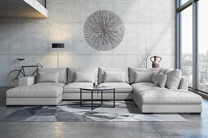HAVANA U-modulsoffa med Divan Vänster Ljusgrå - Möbler & Inredning - Soffor - Modulsoffor