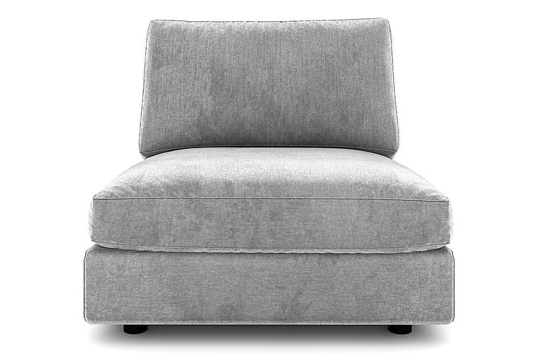 ALSTAD Mittmodul 90 cm Grovvävt tyg Ljusgrå - Skräddarsy färg och tyg - Möbler & Inredning - Soffor - Modulsoffor