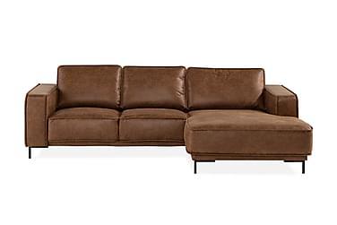 EMRIK 2-sits Soffa med Divan Höger Bonded Leather
