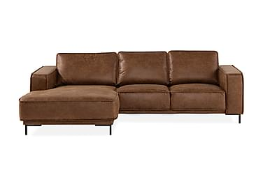 EMRIK 2-sits Soffa med Divan Vänster Bonded Leather