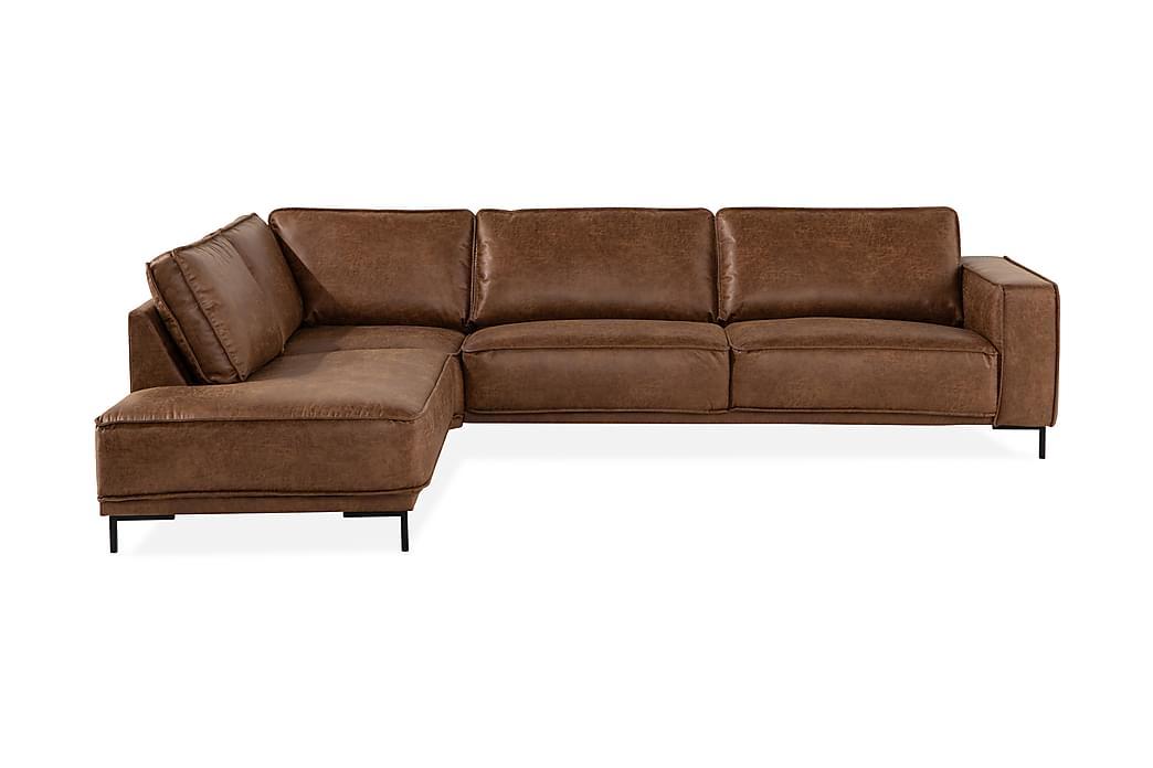EMRIK 2,5-sits Soffa med Schäslong Vänster Bonded Leather - Möbler & Inredning - Soffor - Skinnsoffor