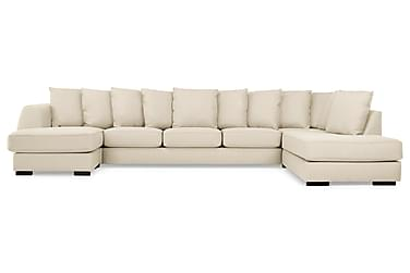 CLARKSVILLE U-soffa Large m Divan Vänster Kuvertkuddar Beige
