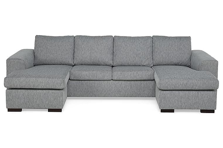 CONNECT Dubbeldivansoffa 4-sits Grovvävt tyg Mörkgrå - Skräddarsy färg och tyg - Möbler & Inredning - Soffor - U-soffor
