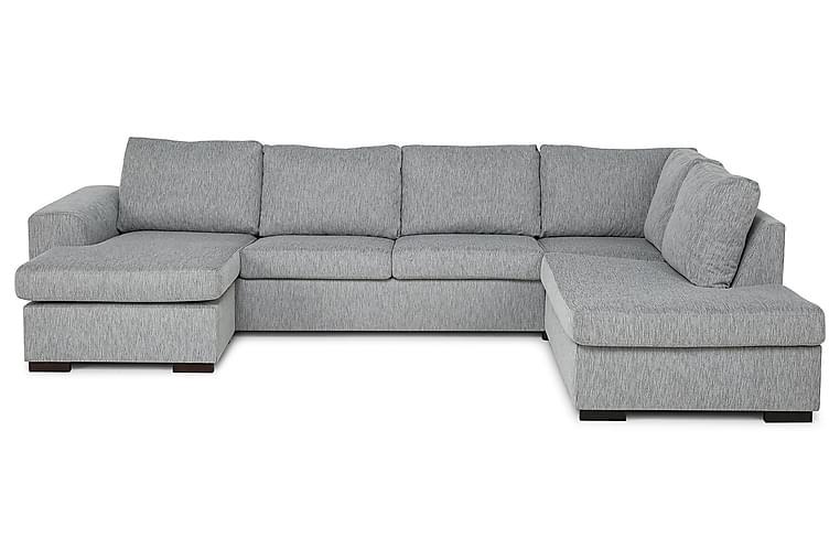 CONNECT U-soffa Large med Divan Vänster Grovvävt tyg Mörkgrå - Skräddarsy färg och tyg - Möbler & Inredning - Soffor - U-soffor