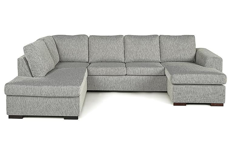 CONNECT U-soffa med Divan Höger Finvävt Tyg Blå - Skräddarsy färg och tyg - Möbler & Inredning - Soffor - U-soffor